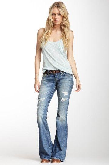 Carrie Vintage Flare Leg Jean by True Religion on @HauteLook