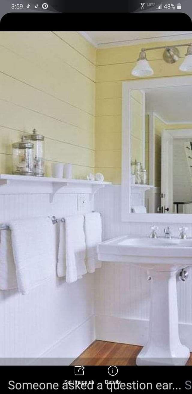 Pin By Margaret Hollyfield On Dream Bathrooms Beadboard Bathroom