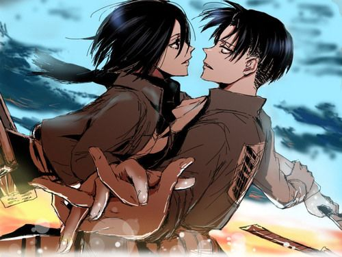 Levi x Mikasa *sigh* The God and The Goddess of the show. Jesus. OTP