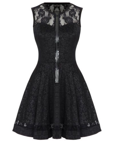 JAWBREAKER BLACK ROSE JACQUARD LACE GOTHIC STEAMPUNK VTG VICTORIAN MINI DRESS | eBay