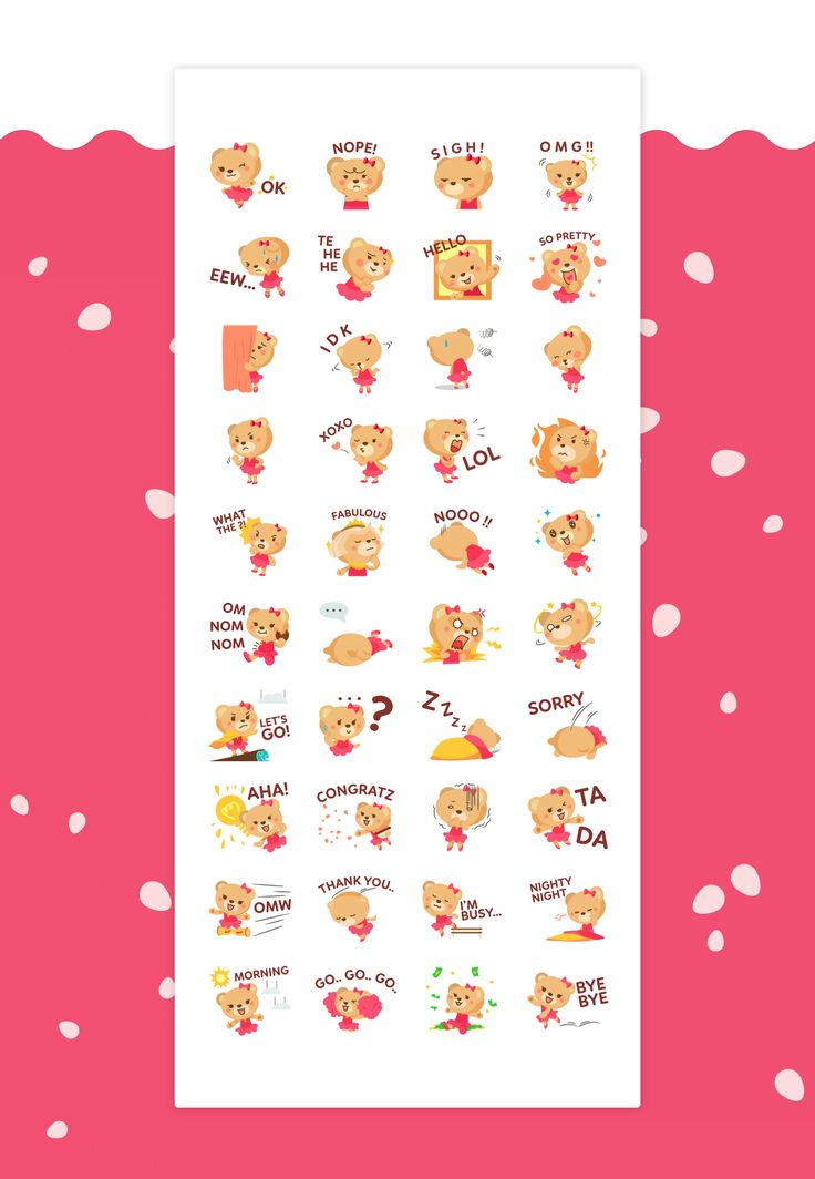 Bearellina / Stickers for LINE on Behance
