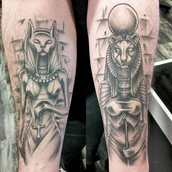 Tatuajes Y Significados Egipcios Llamativos Tatuaje De Bastet