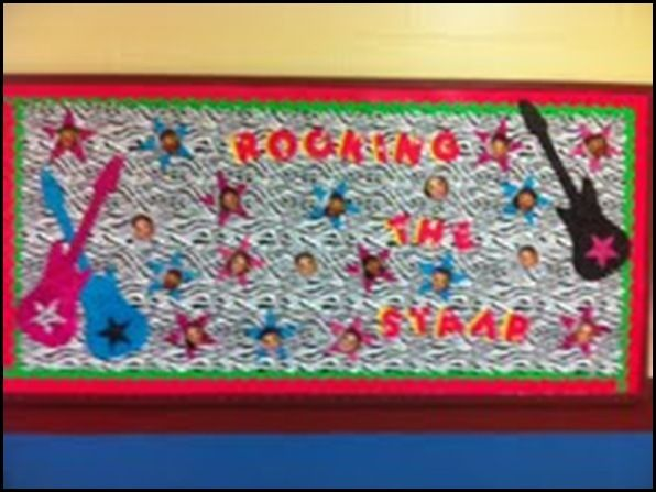Rock Star Theme Www Schoolgirlstyle Com Bulletin Board