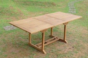TABLE DE JARDIN 10 PERS 180/240 EN TECK RECTANGULAIRE GARDEN