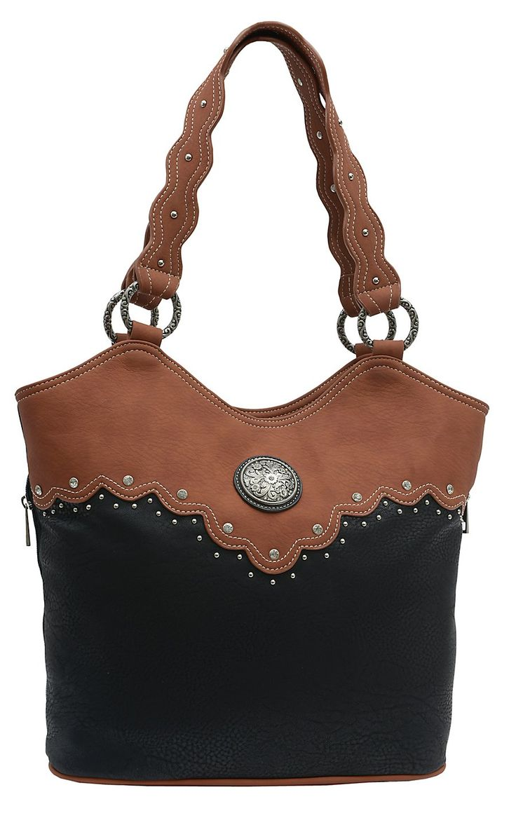 Wrangler® River Black & Sienna Brown Conceal & Carry Tote