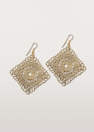 Ten Thousand Villages - Diamond Shaped Filigreed Earrings