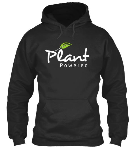 Plant Powered Jet Black T-Shirt Front