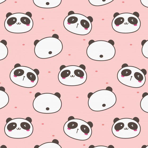 Cute Panda Pattern Background Cute Panda Wallpaper Panda Background Background Patterns