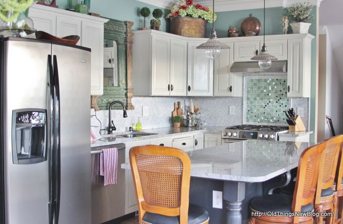 A Budget Kitchen Makeover With Sparkle! - Old Things New