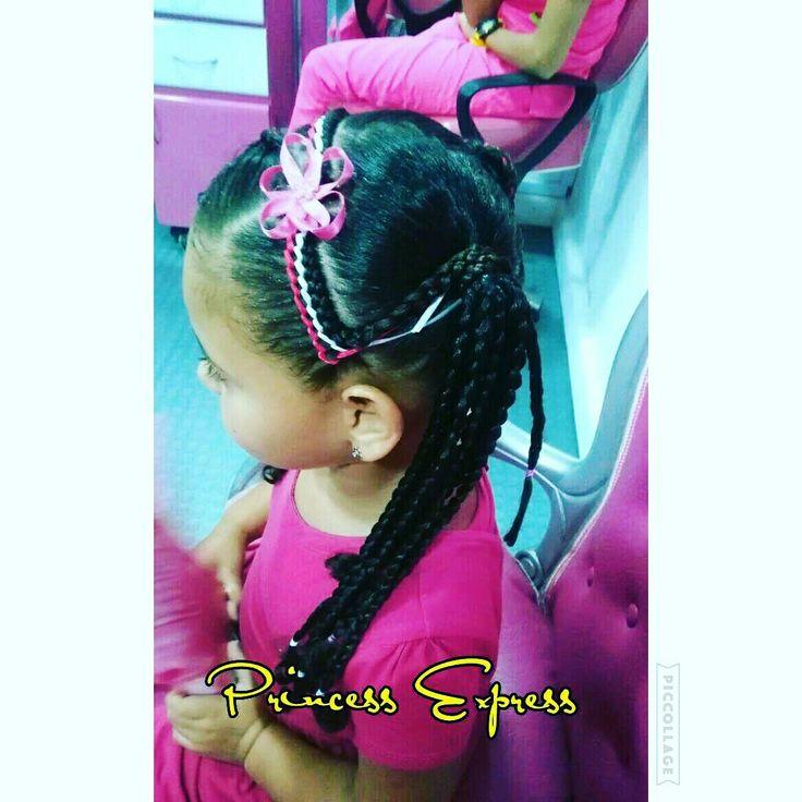 Peinado trenza infantil