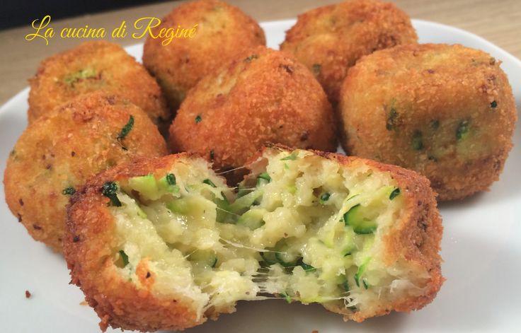 Polpette mozzarella e zucchine