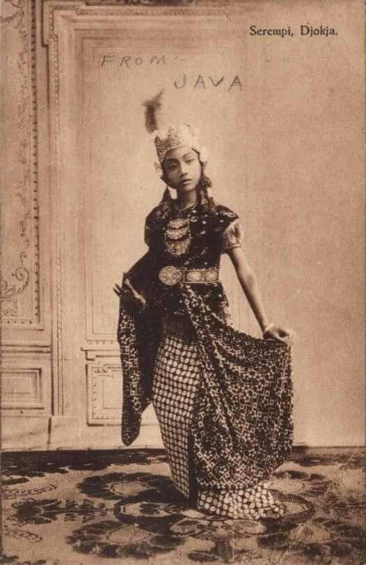 Serempi danser, Yogya - postkaart naar NL