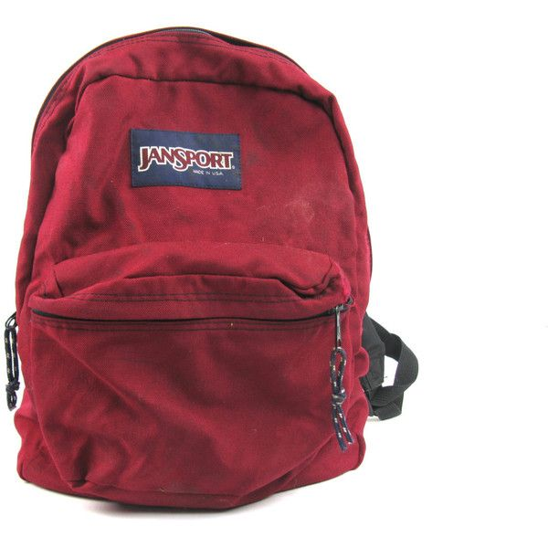 Vintage Maroon JanSport Made in USA Backpack ($18) ❤ liked on Polyvore featuring bags, backpacks, accessories, fillers, vintage rucksack, maroon backpack, vintage backpack, jansport backpack and jansport daypack