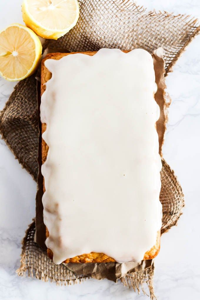 This Glazed Vegan Lemon Cake is fluffy & sweet with the perfect amount of tartness! It's an easy dessert to make for any party or holiday. Ready in 1 hour!