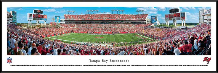 Tampa Bay Buccaneers Panoramic - Raymond James Stadium Picture Framed