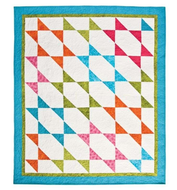 "Making something new is always fun! Use the GO! Half Square Triangle 4"" Finished Square Die to create a ""Stretched Stars To GO! Quilt! Pattern is on the die package or download it FREE PQ4081i on the @AccuQuilt website."