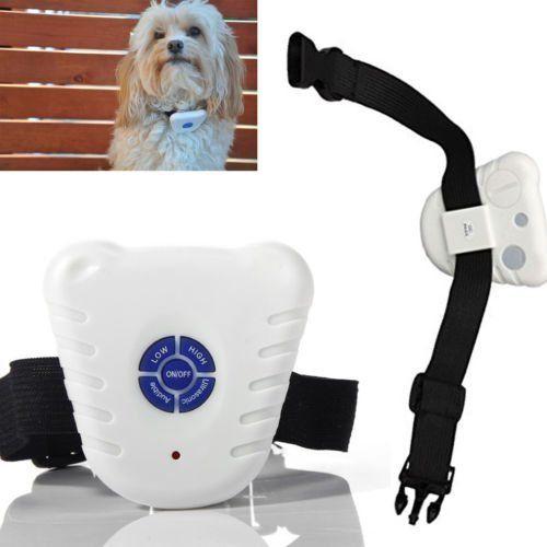 2x Small Ultrasonic Anti Bark No Barking Pet Dog Training Shock Control Collar
