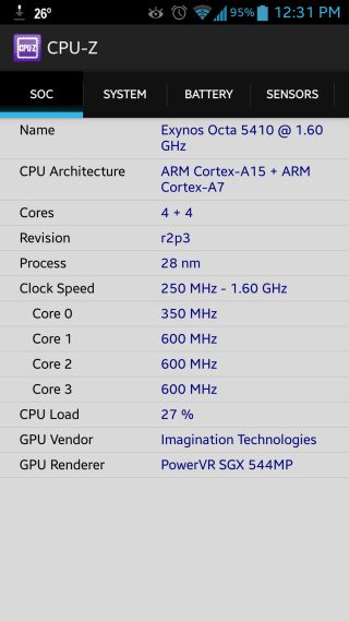 CPU-Z Comes To Android; Shows Detailed SoC, System, Battery & Sensor Stats. CPU-Z for Android is still in beta, but can tell you every bit of info about your device that you could ever seek.   Addictive Tips