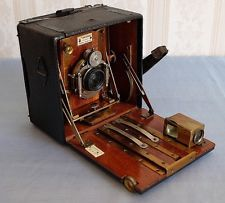 Early Sanderson Camera 'Hand', quarter plate with Hugo Meyer f72 - f-135mm lens
