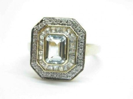 Shiny Pretty Things   Kay's Jewelers - Aquamarine and Diamond Ring - MJ11498