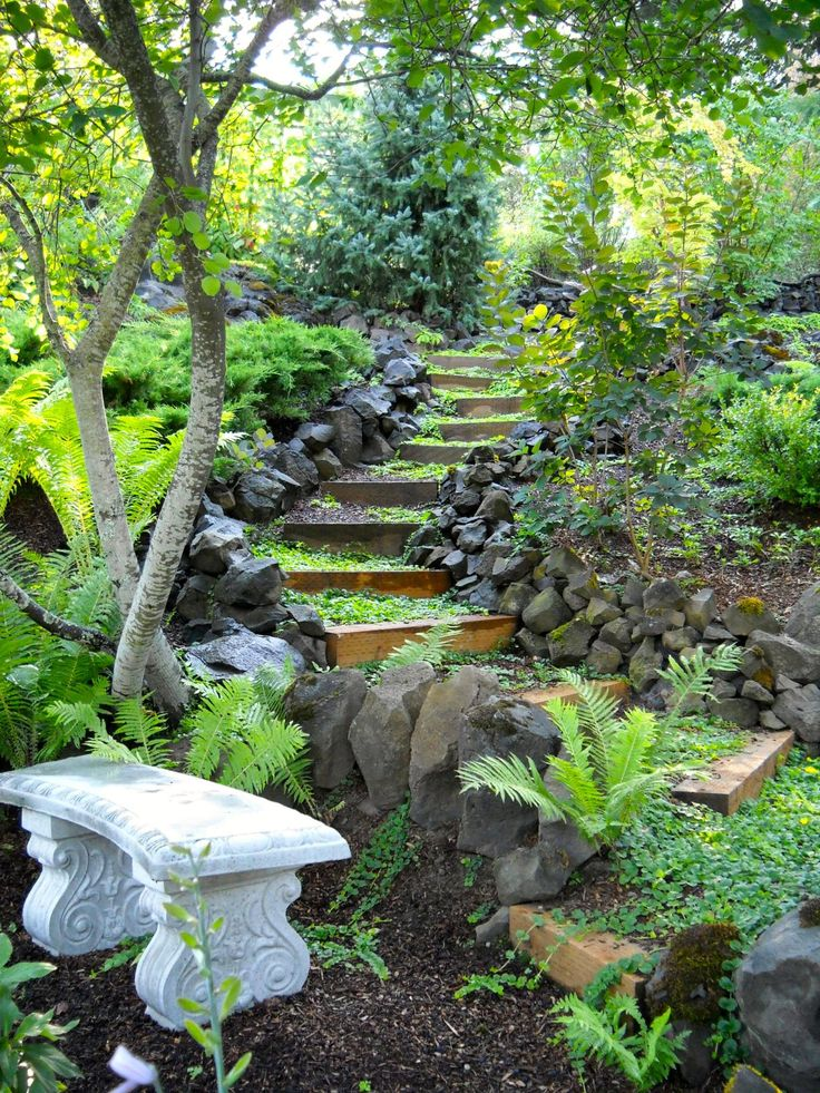 Bob U0026 Claudiau0027s Spectacular Collaboration In Idaho. Garden StepsGarden ...