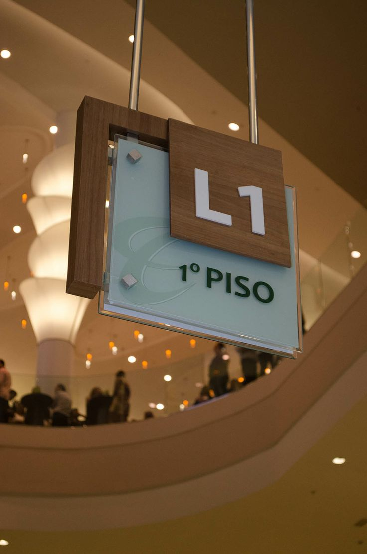 Wayfinding ceiling sign park shopping maceió alagoas