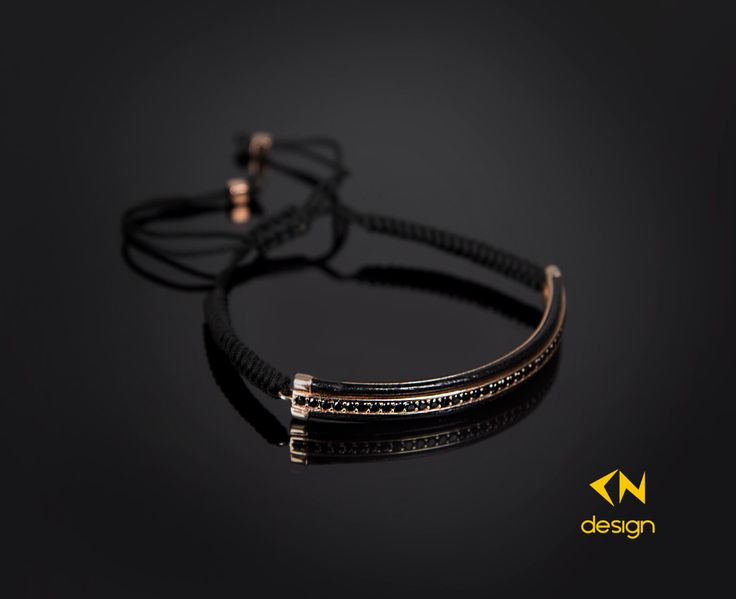 Rose Gold Plated Sterling Silver Genuine Leather Macrame Bracelet by Cndesignofficial on Etsy https://www.etsy.com/listing/256886640/rose-gold-plated-sterling-silver-genuine