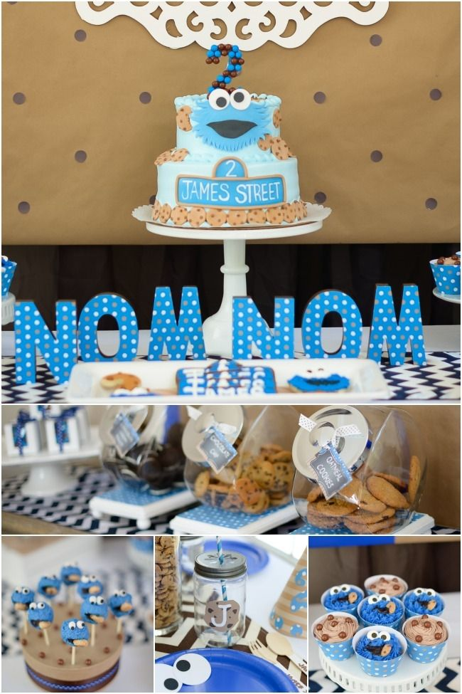 Boy's Sesame Street Cookie Monster Birthday Party Ideas