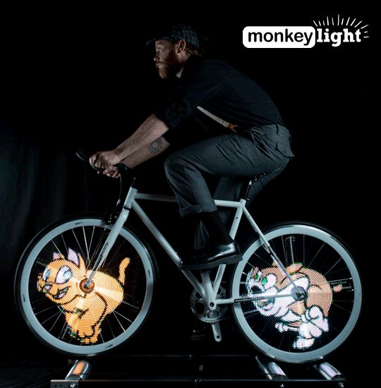 Monkey Light Bike Lights -- I'm going to have to get back on the bike, just so I have an excuse to get some!!  http://www.monkeylectric.com/