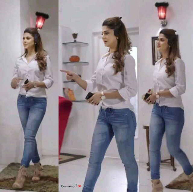 Follow Me Adina Ans Maya Fashion Jennifer Winget Stylish Jeans Top