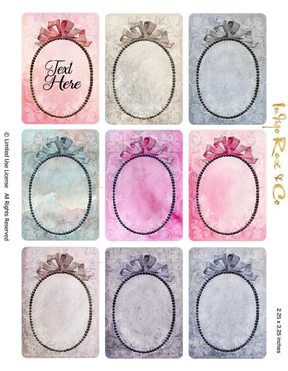 ATC - BOW FRAME - LABEL / GIFT TAG / STICKER - digital download - PRINTABLES. PARTY FAVORS - PARTY PACKS - PLACE CARDS - NAME TAGS - NUMBERS ADD YOUR TEXT Brooch - Earings - Jewellery 2.25 x 3.25 inches. 9 designs 📍 CHECK OUT OUR $1 BIN ✂️ ❗️❗️❗️ Label Place cards Name / Number cards Party Favour Craft. Party packs. Treats. Scrapbook. Collage. Or print onto fabric. Have fun. 1 Digital Sheets / jpg : ATC Bow frame :- * RAINBOW PRINTABLES Card stock - Paper - Stickers - ...