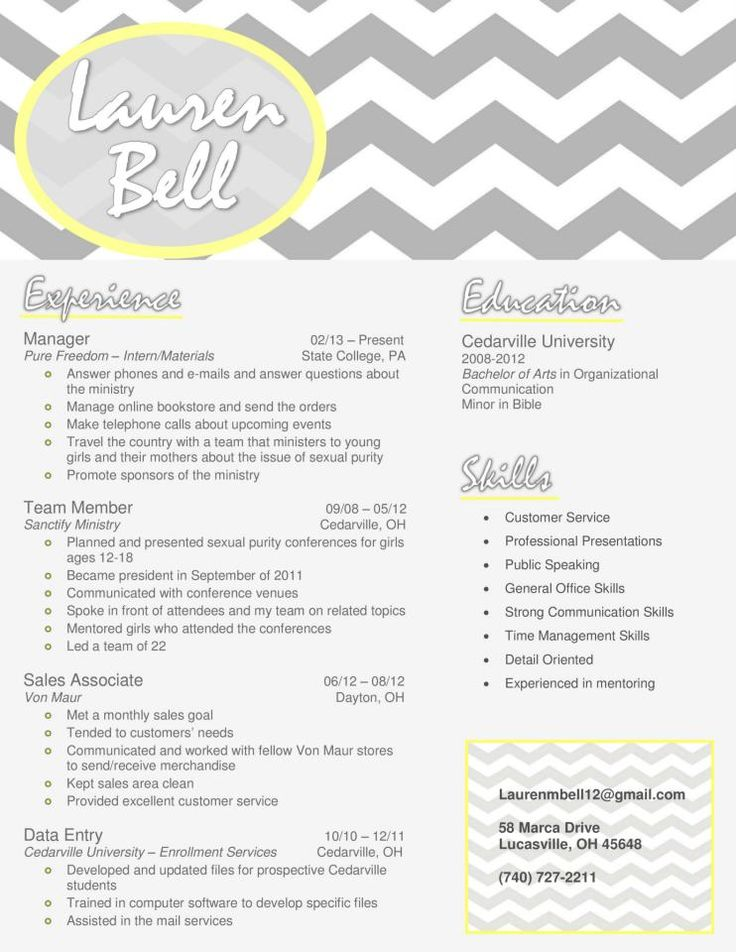 193 Best Resume Design Images On Pinterest | Resume Ideas