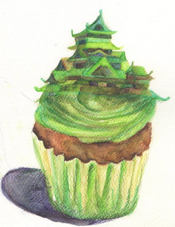 Green 'Cupcastle' by jerujeri