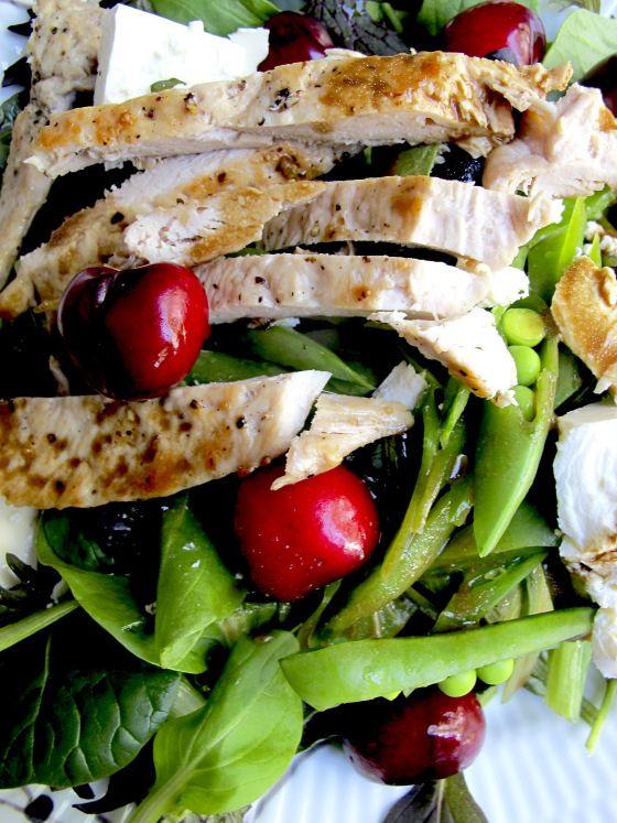 Salat med kylling og moreller