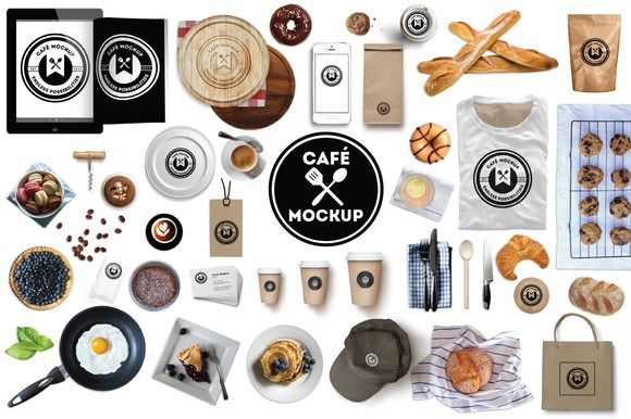 Check out Café/Bakery/Bistro Branding Mockup by mousemade on Creative Market