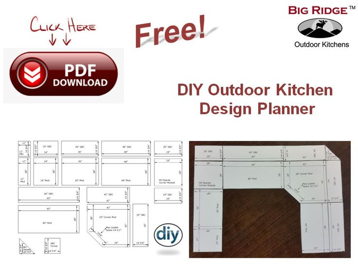 outdoor kitchen design plans diy