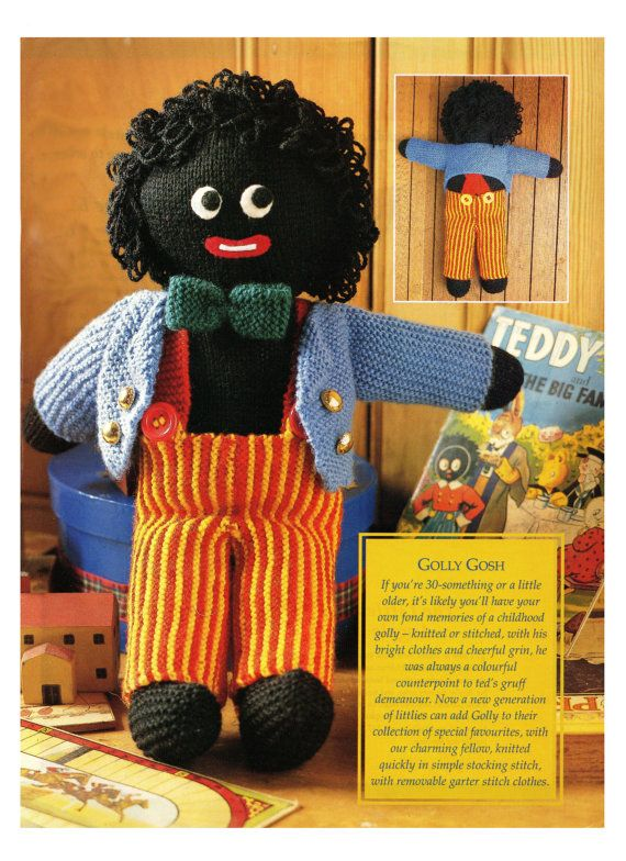 Golly wog knitting pattern 99p PDF digital download on Etsy, $1.81 AUD