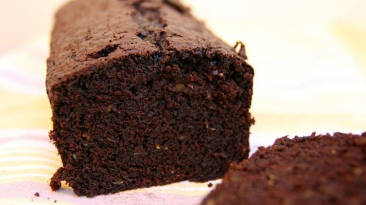 Moist chocolate and zucchini loaf
