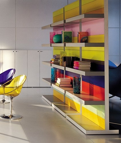 Vertical #Office shelf STRIPES by FANTONI SPA #colour #books
