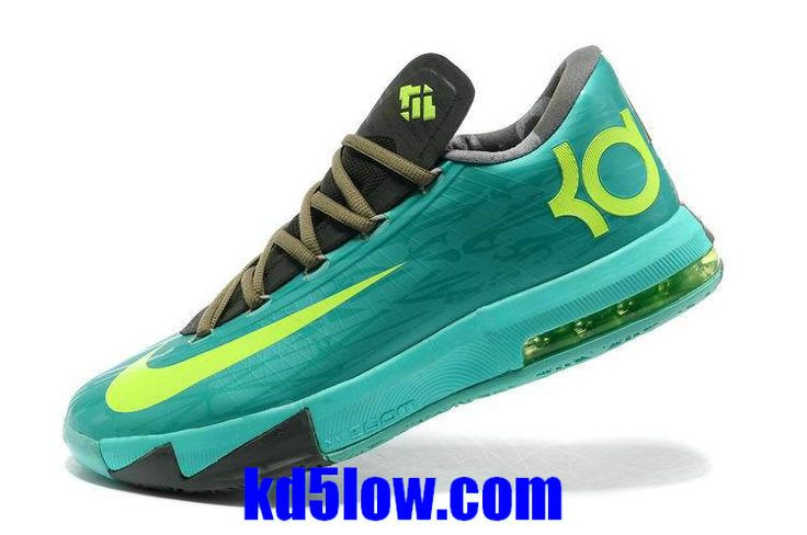 Cheap KD 6 Kevin Durant Shoes 2014 Tropical Twist Volt Tarp Green 599424  200 [Lebron X Denim