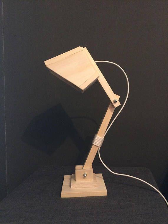 Table Wood Lamp/Wooden Lamp/Desk Lamp/Modern Lamp/Articulated