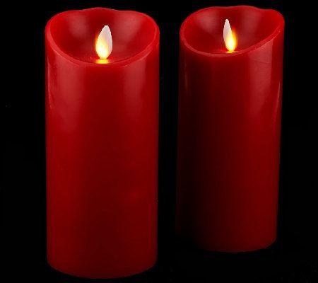 luminara s2 3x6 holiday flameless candles with timers - Flameless Candles With Timer