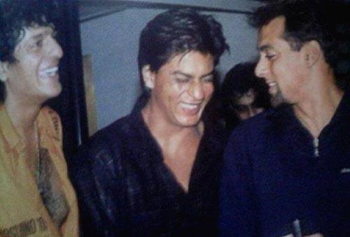 Shahrukh Khan with Chunky Pandey and Salman Khan