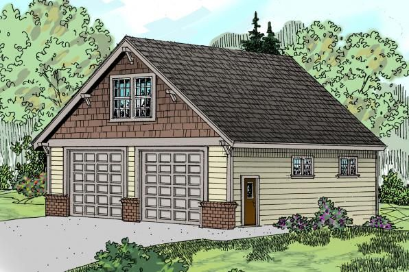 Garage Plan 20 046 Front Elevation Craftsman Style House Plans House Plans Garage Plan