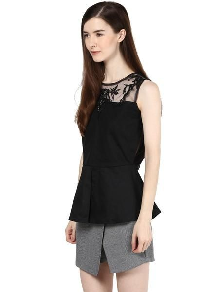 LadyIndia.com # Women Wear, New Style Designer Black Top, Designer Top, Fashion Trend, Tops, Women Wear, Girls Tops, https://ladyindia.com/collections/western-wear/products/new-style-designer-black-top