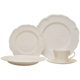 Shop for Red Vanilla 20-piece Classic White Dinnerware Set. Get free delivery at Overstock.com - Your Online Kitchen & Dining Outlet Store! Get 5% in rewards with Club O! - 16961909