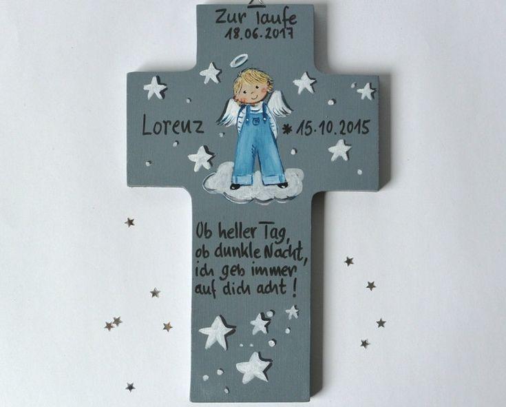 Taufgeschenk personalisiert Junge kreuz Kinderkreuz
