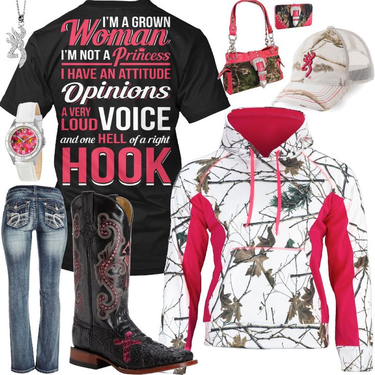 I'm A Grown Woman Snow Camo Pink Hoodie Outfit - Real Country Ladies