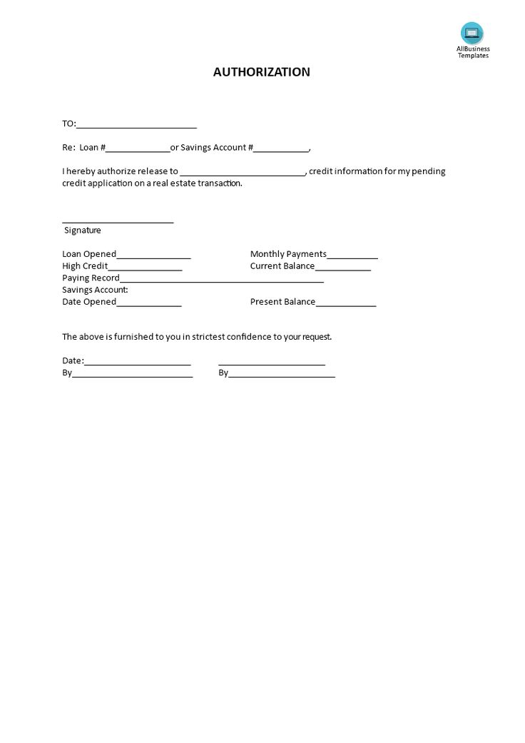 Authorization - Do you need an Authorization to Release Funds? Download this professional Authorization template now!