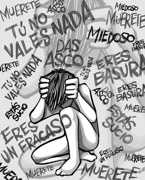 no al bullying o al acoso